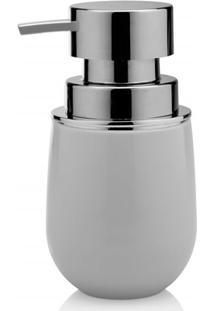 Porta Sabonete Líquido New Belly Cromo 8,5X15,7Cm Branco