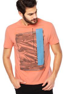 1d8657244f ... Camiseta Manga Curta Calvin Klein Jeans Relevo Laranja
