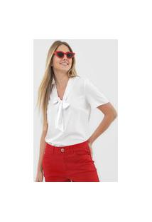 Blusa Malwee Laço Branca