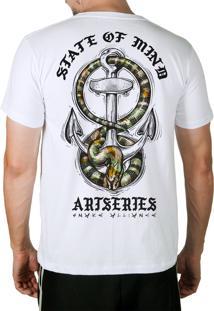 Camiseta Artseries Ancora Com Cobra Costas