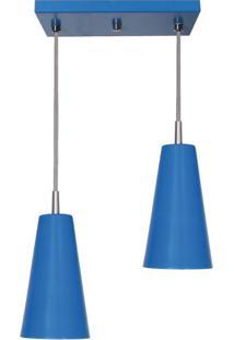 Pendente Cone Mini Tóquio Duplo Azul Attena