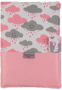 Capa Para Cartão De Vacinação - Alan Pierre Baby - Nuvem Rosa Nova