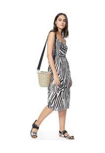 Vestido Estampa Zebra Preto