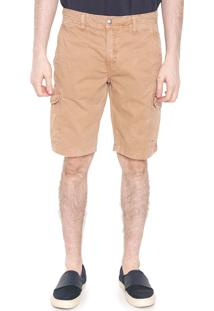 Bermuda Sarja Calvin Klein Jeans Cargo Amassos Caramelo