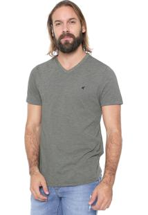 Camiseta Malwee Listrada Verde/Branca