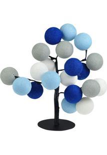 Luminária Árvore De Luz Santorini- Azul & Cinza- 35Xcormilu
