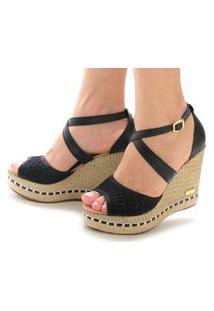 Sandália Anabela Sb Shoes Ref.3207 Preto