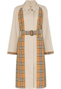 Burberry Trench Coat Xadrez Guisley - Neutro