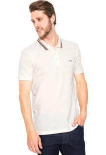 Camisa Polo Sommer Tiras Bege