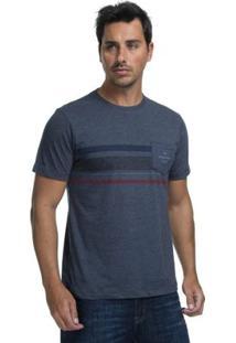 Camiseta Quiksilver Especial Heat Wave Pocket - Masculino-Marinho