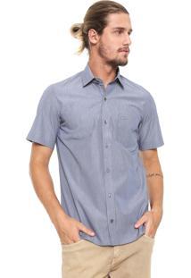 Camisa Lacoste Slim Com Bolso Azul