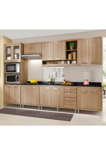 Cozinha Completa Com Tampo 15 Portas 3 Gavetas 5835 Argila - Multimóveis
