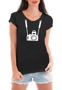 Camiseta Criativa Urbana Fotográfica - Feminino