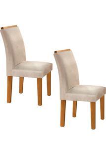Conjunto Com 2 Cadeiras Sevilha Ypê E Cru