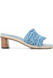 Altuzarra Sandália Tack De Ráfia - Azul