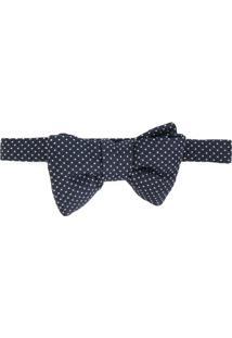 Tom Ford Gravata Borboleta Com Textura - Azul