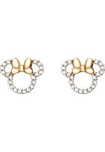 Brinco Minnie Ouro Rosã© E Diamantes