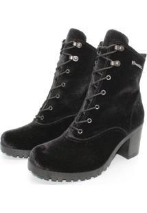 Bota Barth Shoes Wind Veludo - Preto - Tricae
