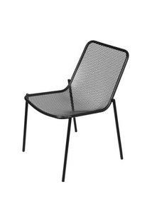 Cadeira Luma Sem Braco Com Pintura Epoxi Cor Preta - 61000 Preto