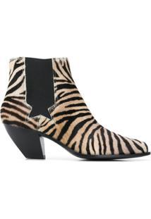 Golden Goose Ankle Boot Com Estampa De Tigre - Marrom