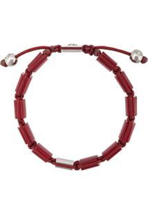 Nialaya Jewelry Pulseira Com Contas - Vermelho