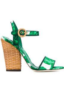 Dolce & Gabbana Sandália Modelo 'Keira' - Green