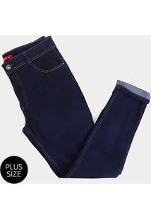 Calça Jeans Plus Size Biotipo Skinny Alice Cintura Alta Feminina - Feminino