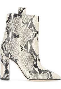 Paris Texas Animal Print Ankle Boots - Neutro