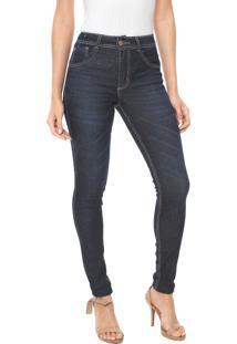 048c3bfb3 ... Calça Jeans Biotipo Skinny Melissa Azul-Marinho