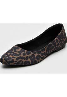Sapatilha Dafiti Shoes Onã§A Preto/Caramelo - Preto - Feminino - Tãªxtil - Dafiti