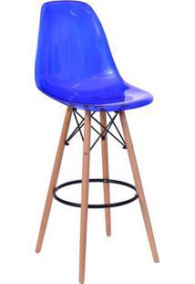 Banqueta Eames Dkr - Azul & Bege - 106X56X56Cm -Or Design