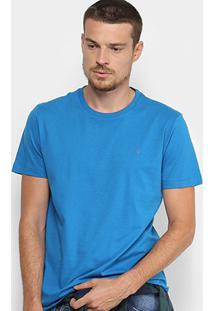 Camiseta Forum Básica Masculina - Masculino-Azul