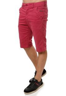 Bermuda Sarja Masculina Rosa