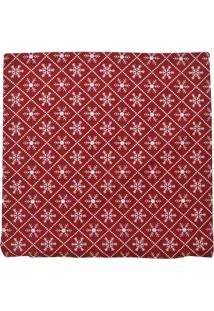 Capa De Almofada Natal Flocos De Neve- Vermelha & Brancamabruk