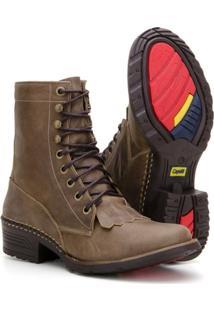 Bota Country Capelli Boots Em Couro Com Amarração Masculino - Masculino