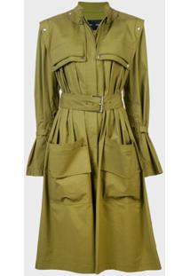 Proenza Schouler Belted Trench Coat - Marrom