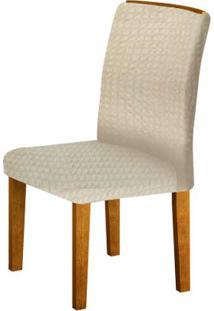 Cadeira Lunara 2 Peças - Imbuia Com Matelasse