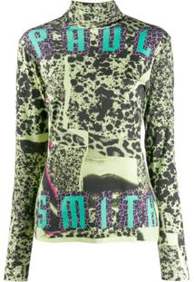 Paul Smith Blusa Com Estampa Collage - Verde