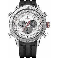 8c77e5a86 Relógio Weide Anadigi Wh-6308 Branco - Masculino
