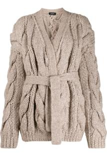 Dsquared2 Chunky Cable Knit Cardigan - Neutro