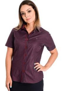 Camisa Pimenta Rosada Madalene - Feminino-Vermelho+Vinho