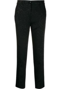 Etro Damask Pattern Slim-Fit Trousers - Preto