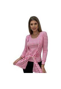 Conjunto Butiq Cardigan Kimono E Blusa Regata Rosa