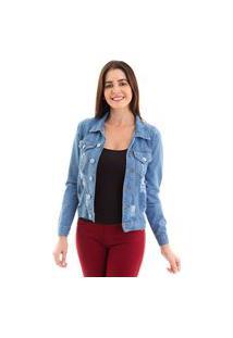 Jaqueta Kassis Jeans Azul