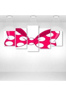 Quadro Decorativo - Pink Loop - Composto De 5 Quadros - Multicolorido - Dafiti
