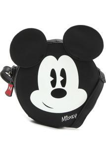 Bolsa Mickey Mouse Personagem Preta