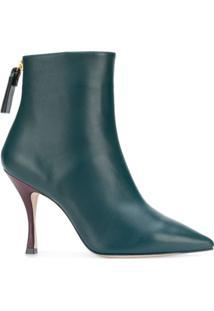 Stuart Weitzman Ankle Boot 'Juniper' De Couro - Verde
