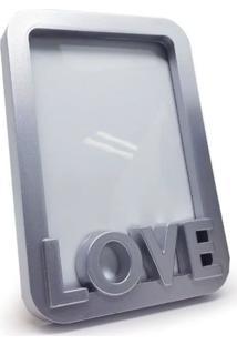 Porta Retrato Love Geek10 Cinza