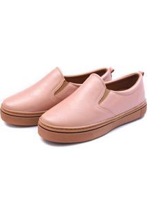 Slip On Flatform Feminino Casual Touro Boots Rosa - Kanui