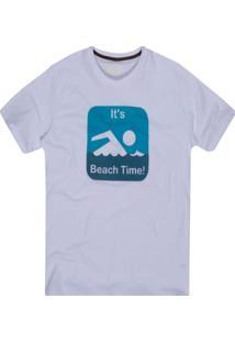Camiseta Khelf Its Beach Time! Branco